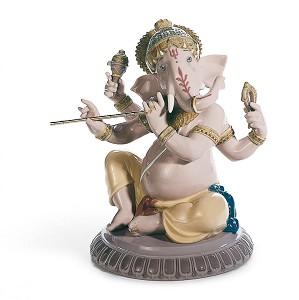 Lladro-Bansuri Ganesha