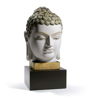Lladro-BUDDHA II (GOLDEN AND BLUE)