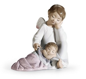 Lladro-My Guardian Angel Pink