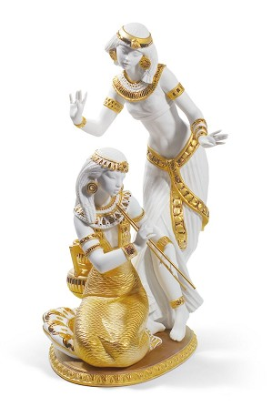 Lladro-Dancers from The Nile (Golden Lustre)