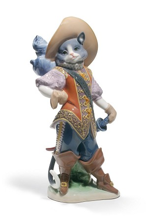 Lladro-PUSS IN BOOTS