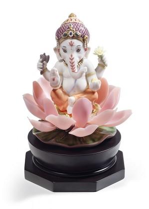Lladro-Padmasana Ganesha