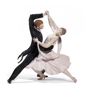 Lladro-Elegant Foxtrot Couple