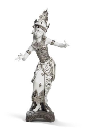 Lladro-Bali Dancer (Silver Lustre)