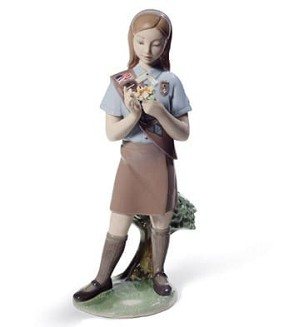 Lladro-Girl Scout Brownie