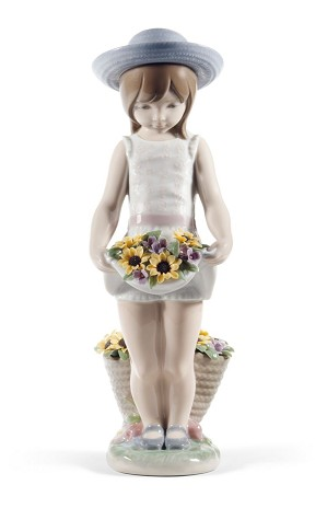 Lladro-Skirt Full of Flowers