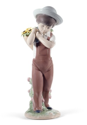 Lladro-Gathering Flowers