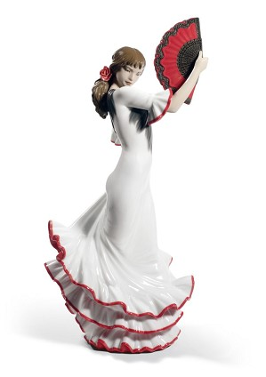 Lladro-Passion and Soul Flamenco Woman 60th Anniversary. Red
