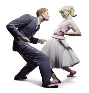 Lladro-Let's Swing Couple