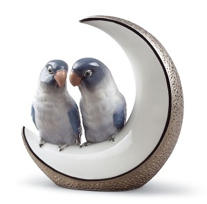Lladro-Fly Me to The Moon Birds