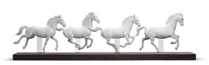 Lladro-GALLOPING HERD