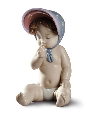 Lladro-Girl with Bonnet