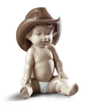 Lladro-Boy with Cowboy Hat