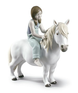 Lladro-Girl with Pony