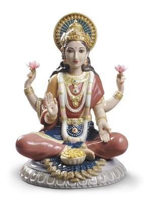 Lladro-Goddess Sri Lakshmi