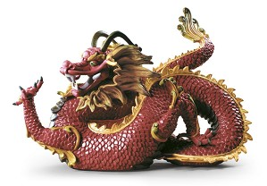 Lladro-Majestic Dragon