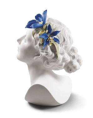 Lladro-Daisy with Flowers Woman Bust