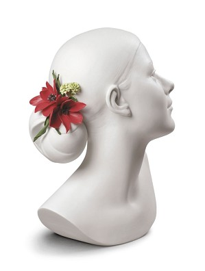 Lladro-Lily with Flowers Woman Bust