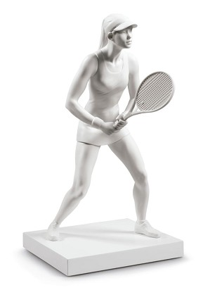 Lladro-Lady Tennis Player