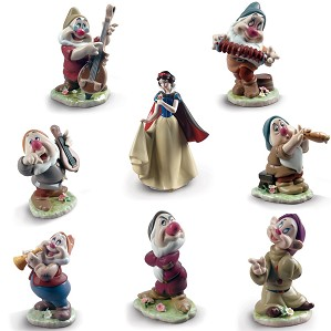 Lladro-SNOW WHITE AND THE SEVEN DWARFS