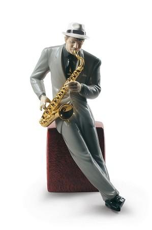 Lladro-Jazz Saxophonist