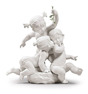 Lladro-Kiss under the mistletoe