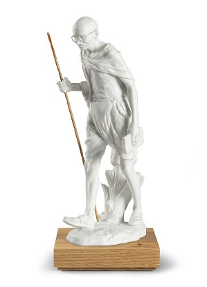 Lladro-Mahatma Gandhi Figurine. 150th birth Anniversary