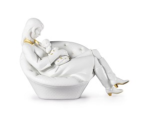 Lladro-Feels Like Heaven Mother White & Gold