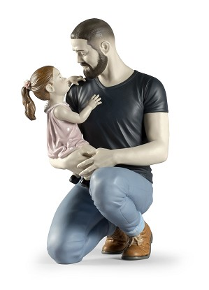 Lladro-In Daddy's Arms