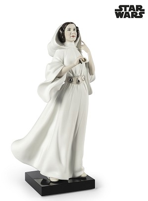 Lladro-Princess Leia's New Hope From The Movie Star Wars