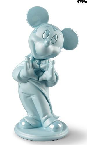 Lladro-Mickey Mouse Figurine Blue