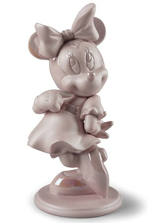 Lladro-Minnie Mouse Figurine Pink