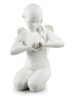 Lladro-Heavenly Heart Angel