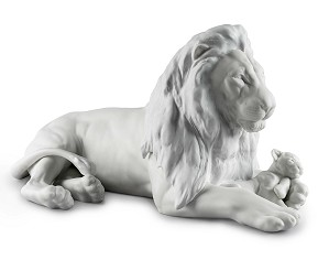 Lladro-Lion with Cub