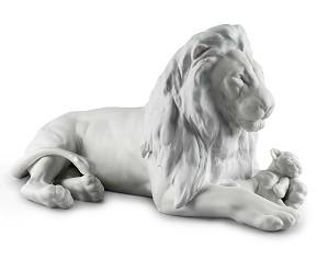 Lladro-Lion with Cub