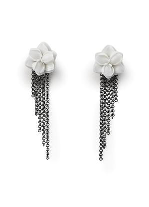Lladro Jewelry-Orchid Long Earrings