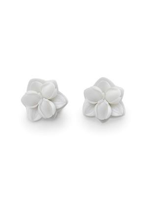 Lladro Jewelry-Orchid Stud Earrings