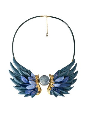 Lladro Jewelry-Paradise Wings Necklace