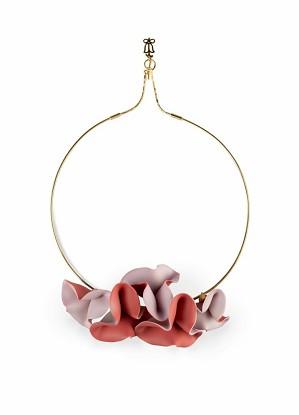 Lladro Jewelry-Lola Open Choker Pink & Red