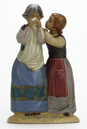 Lladro-Comforting Her Friend