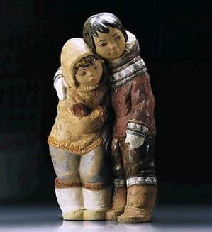 Lladro-Eskimo Boy and Girl