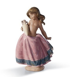 Lladro-LITTLE PEASANT GIRL (PINK)