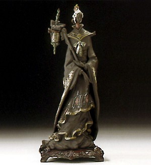 Lladro-Oriental Fantasy W/brooch