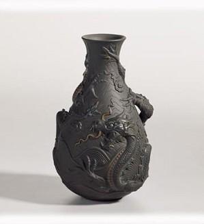 Lladro-Bud Vase (Black)