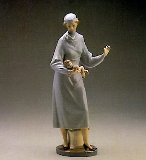 Lladro-Midwife