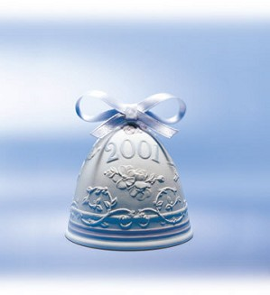 Lladro-2001 Christmas Bell