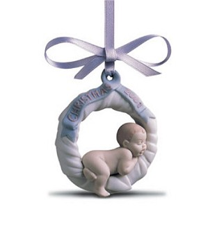 Lladro-Baby's First Christmas 2001