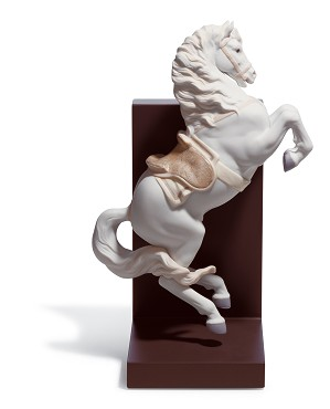 Lladro-HORSE ON COURBETTE