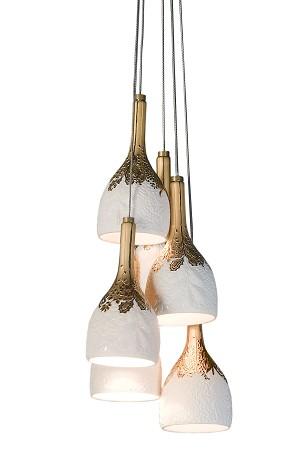 Lladro Lighting-Naturofantastic 6 Lights Ceiling Lamp