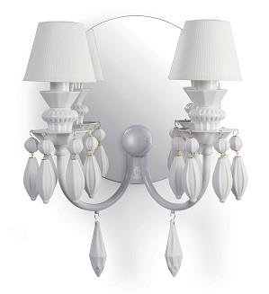 Lladro Lighting-Belle de Nuit 2 Lights Wall Sconce White